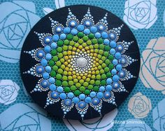 Mandala dot art, fridge magnets, Home Decor, gifts for her, Meditation Mandala, healing Mandala, energy Mandala, painted Mandala