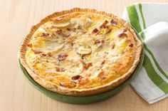 Potato & Bacon Quiche Recipe - Kraft Recipes- I made this with Bacon and Mushrooms- Very Good!