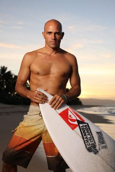 Kelly Slater arguably the best american surfer being the youngest(at age 20) & the oldest(at age 39) to win numerous world titles all around the world.