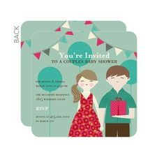 Cute Couple Baby Shower Invitations