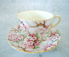 Shelley Blossom Chintz Tea Cup and Saucer by TheBountifulBird