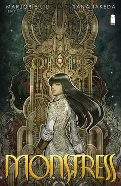 Monstress: Awakening by Marjorie Liu. Set in an alternate matriarchal 1900's Asia, in a richly imagined world of art deco-inflected steam punk, MONSTRESS tells the story of a teenage girl who is struggling to survive the trauma of war, and who shares a mysterious psychic link with a monster of tremendous power, a connection that will transform them both and make them the target of both human and otherworldly powers.