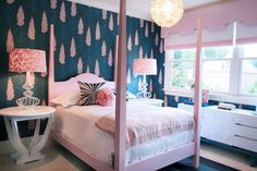 Girls Room eclectic kids room by Beth Keim of Lucy and Company #laylagrayce #lucyandcompany #bedrooms