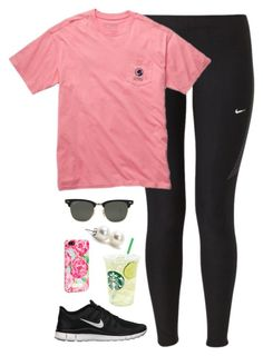 """day out"" by classically-preppy ❤ liked on Polyvore featuring NIKE, Ray-Ban, Bounkit and Lilly Pulitzer"