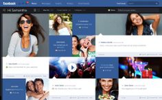 Facebook Prototype - Conceptional Approach. A conceptional and systematic design approach for a new responsive desktop and iPad concept for ...