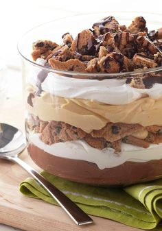 Peanut Butter Chocolate Trifle -- There's nothing trifling about this dessert recipe that has it all: peanut butter, cookies and creamy chocolate pudding.