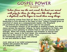 Gospel Power - 16th Sunday in Ordinary Time