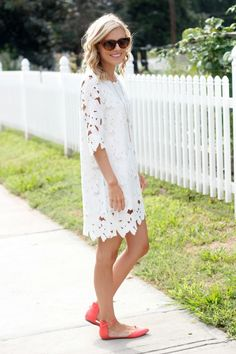 White Dress... pretty, I worry that it would look huge on a curvy body because of having to get a size big enough