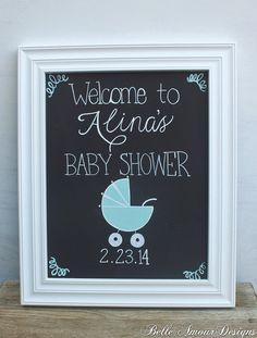 chalkboard signs for baby shower Baby Shower Niño, Baby Shower Gender Reveal, Shower Party, Baby Shower Parties, Baby Shower Themes, Baby Shower Decorations, Baby Shower Gifts, Baby Gifts, Shower Ideas