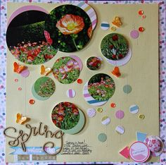 Layout-A-Week: SPRING IS HERE! - WEEK Let flowers inspire your layout - Layout-A-Week: SPRING IS HERE! - WEEK http://buff.ly/1JHeqNQ #100NSD #nationalscrapbookday