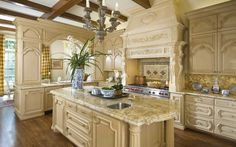 french kitchen - ornate molding