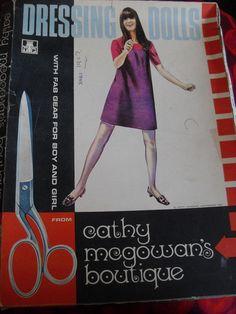 Cathy McGowan dressing dolls 1967 Cathy Mcgowan, Swinging London, Vintage Sewing Patterns, Childhood, Dressing, Dolls, Vintage Fashion, Baby Dolls, Infancy