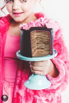 Black cake layers
