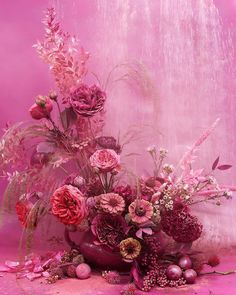 Art Floral, Floral Design, Pretty In Pink, Pink Flowers, Beautiful Flowers, Dried Flowers, Paper Flowers, Floral Centerpieces, Floral Arrangements