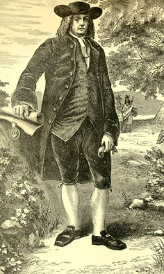 The birth on this day 14th October, 1644 of William Penn, the English Quaker leader who founded a Quaker colony named Pennsylvania in his honour
