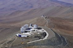 """Very Large Telescope. Part of the European Southern Observatory (ESO) and located on Cerro Paranal in the Atacama desert. (Photo: ESO/G.Hüdepohl) Mona Evans, """"Hidden Universe 3D"""" http://www.bellaonline.com/articles"""