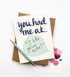 You Had Me At diy custom personalized quote card chic by littlelow, $4.00