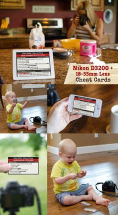 My Cheat Cards tell you exactly which Settings and Modes to use with your Nikon D3200 for a variety of Subjects and Scenes!
