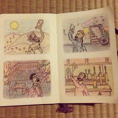 hegvannasche:    #rotring #rapidograph #moleskine #sketchbook #drink #sketch #colorpencil #illustration #ink