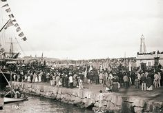 Foto antigua de Mallorca desembarque del Orfeo