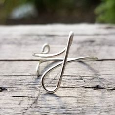 j Initial Ring Bridesmaid Rings, Bridesmaids, Friendship Rings, Personalized Rings, Wire Wrapped Rings, Kind Words, Thoughtful Gifts, Custom Jewelry, Wire Wrapping