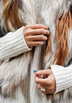 Cozy knits and gorgeous rings #alliwant