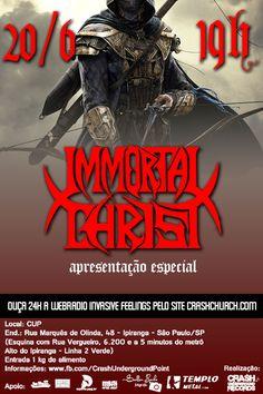 Flyer feito (na correria) para o show do Immortal Christ