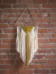 Handmade Woven Wall Art - The Valentina Short - MADE TO ORDER by TheUrbanLoomShop on Etsy