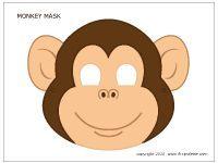 Colored monkey mask