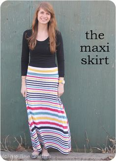 Maxi Skirt Tutorial #PeekabooPatternShop
