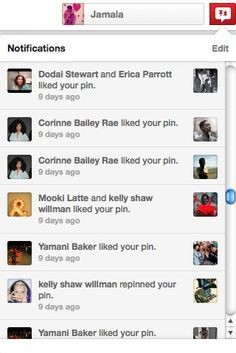 This new/updated notifications feature is kind of a big deal. Thanks @Pinterest ! #pinterestnerd