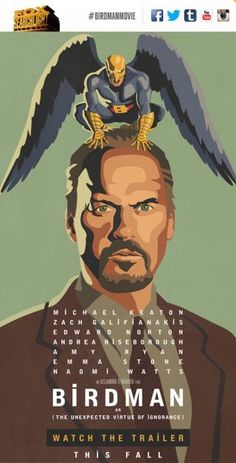 Ecco un film che devo assolutamente vedere! Michael Keaton's Birdman Movie Is Batshit Insane, In A Good Way