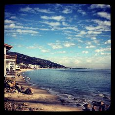 Beach in day....either last day with Noah or road trip with Ezra View from brunch at the Malibu Beach Inn