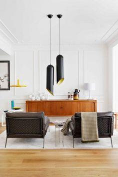 modern furniture, lights, plaster work.