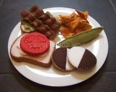 Felt Food Summer Cookout Set Sewing Pattern PDF by sweetemmajean