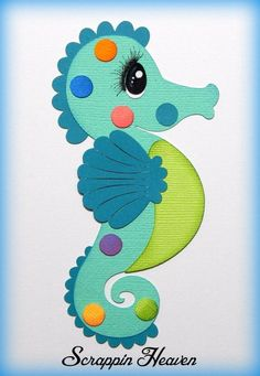 Seahorse Ocean premade paper piecing for scrapbook pages aquarium vacation #Unbranded