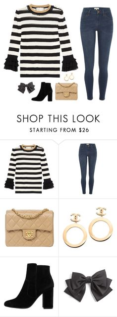 """Untitled #1109"" by anetacerna ❤ liked on Polyvore featuring Gucci, River Island, Chanel, MANGO and Cara"