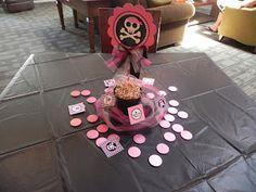 Pink pirate centerpiece
