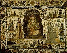 17th century stumpwork embroidery - Google Search
