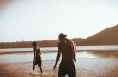 #river #vintage #filter #cap #towel #beach #sand #splash #film #camera #vignette Film Camera, Vignettes, Filters, Towel, Cap, River, Couple Photos, Couples, Beach