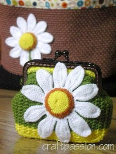 daisy coin purse #crochet #tutorial