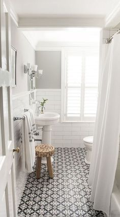 cement tiles in the bathroom