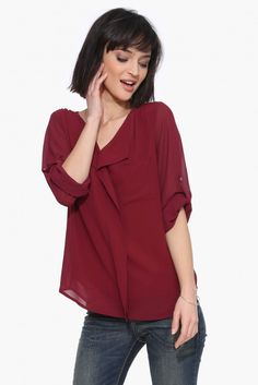 Let it Be blouse in Wine | Necessary Clothing