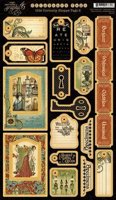 Graphic 45 - Olde Curiosity Shoppe Collection - Die Cut Chipboard Pieces - Tags Two at Scrapbook.com $5.99
