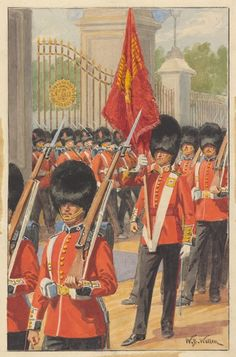 British; Coldstream Guards c.1900 by Edgar A Holloway