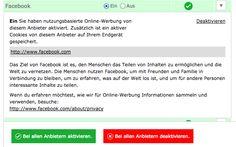 #Facebook: neue #Nutzungsbedingungen und wie man personalisierte Werbung abbestellt