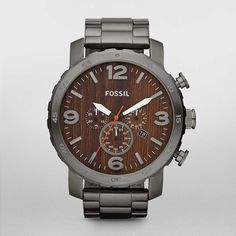 Fossil Nate Stainless Steel Watch – Smoke  Style #:JR1355