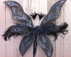 Wanna have a bit intricate wings, but I'll have to make them myself :P  Dark Fairy Wings by bluereverie.deviantart.com on @deviantART