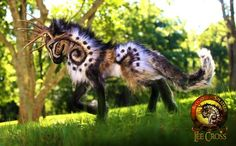 Prehistoric Tundra Stag. A poseable figure made by Alaskan artist created by Lee Cross / Wood Splitter Lee. Not an actual animal. Often mislabeled as a fictional Marbled Fuark. Snopes article.