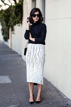 I don't know if I even need to say it, but the skirt (including its awesome length) makes this outfit.